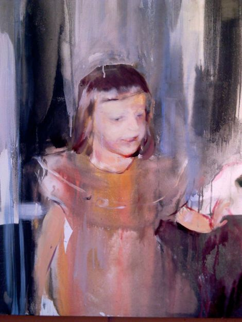 Geraldine Swayne, Unknown (Private Collection oil on canvas - 2012 - 5'x4' aprox) on ArtStack #geraldine-swayne #art
