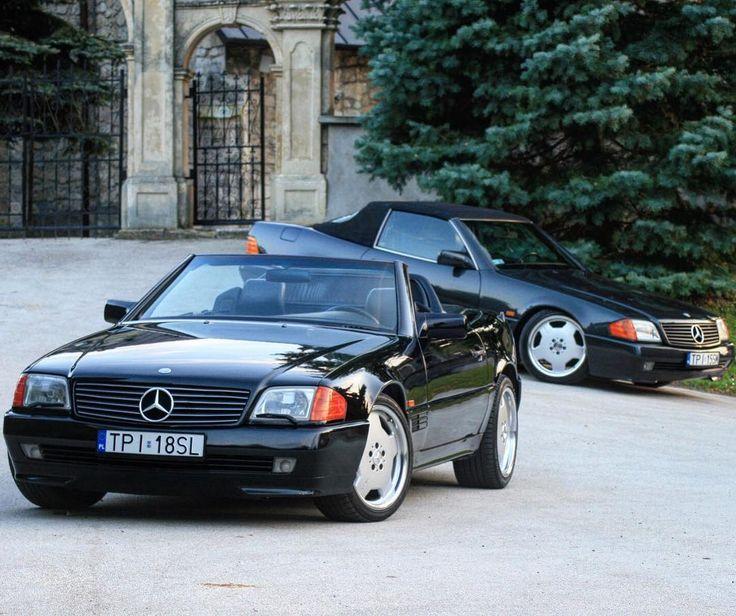 "Mercedes SL R129  on Instagram: ""What's better than an SL? Two SLs. #R129 #SL #MercedesBenz #Mercedes #Benz #ClassicMercedes #ClassicBenz #MBphoto #MercedesSL…"""