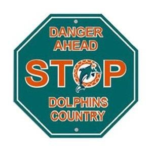 Miami Dolphins Stop Sign ~ NEW
