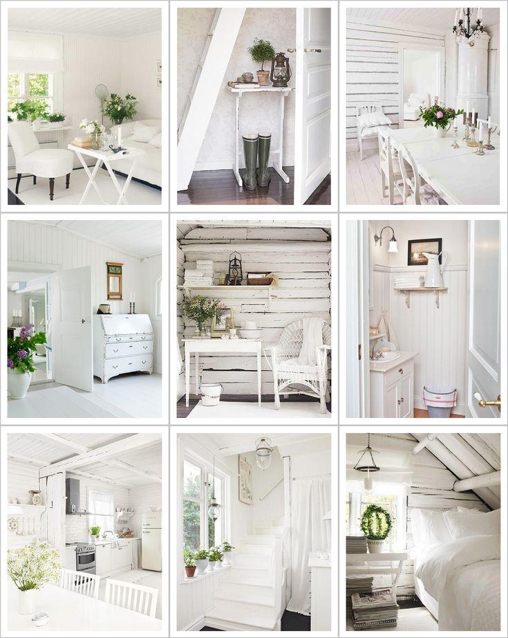 Shabby Chic Interiors: Una casa bianca