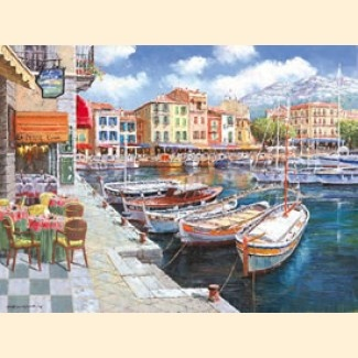 Cafe in Cassis - Sam Park | 1-888-264-4887 Art Leaders Gallery
