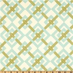 pillows (Waverly Square Root Aquamarin) - I love the pattern.  Quilt?