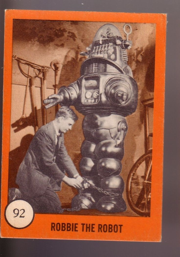 1961 nu cards horror monster series 92 robbie the robot