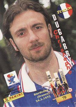 1998 Panini World Cup #79 Christophe Dugarry  Back