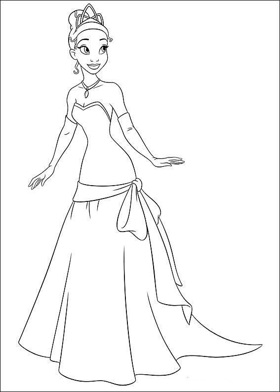 Disegni Di Tiana De La Principessa E Il Ranocchio Da Colorare Pagine Da Colorare Disney La Principessa E Il Ranocchio Principesse