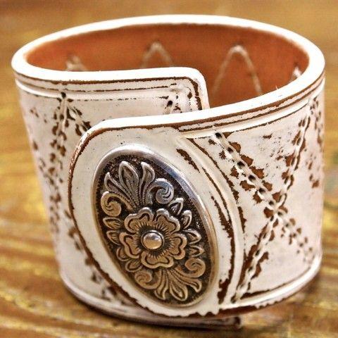 ☮ American Hippie Bohemian Boho Style .. Jewelry - leather cuff