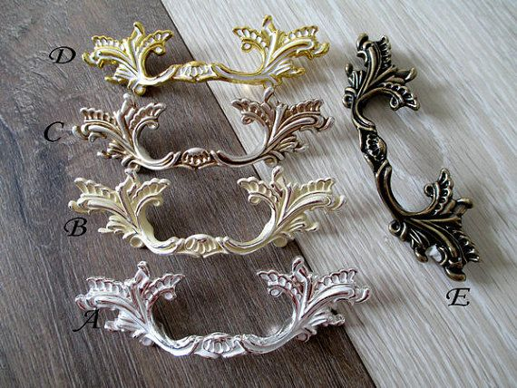 3 76 Mm Shabby Chic Dresser Drawer Pulls Handles French Country Kitchen Cabinet Handle Pull
