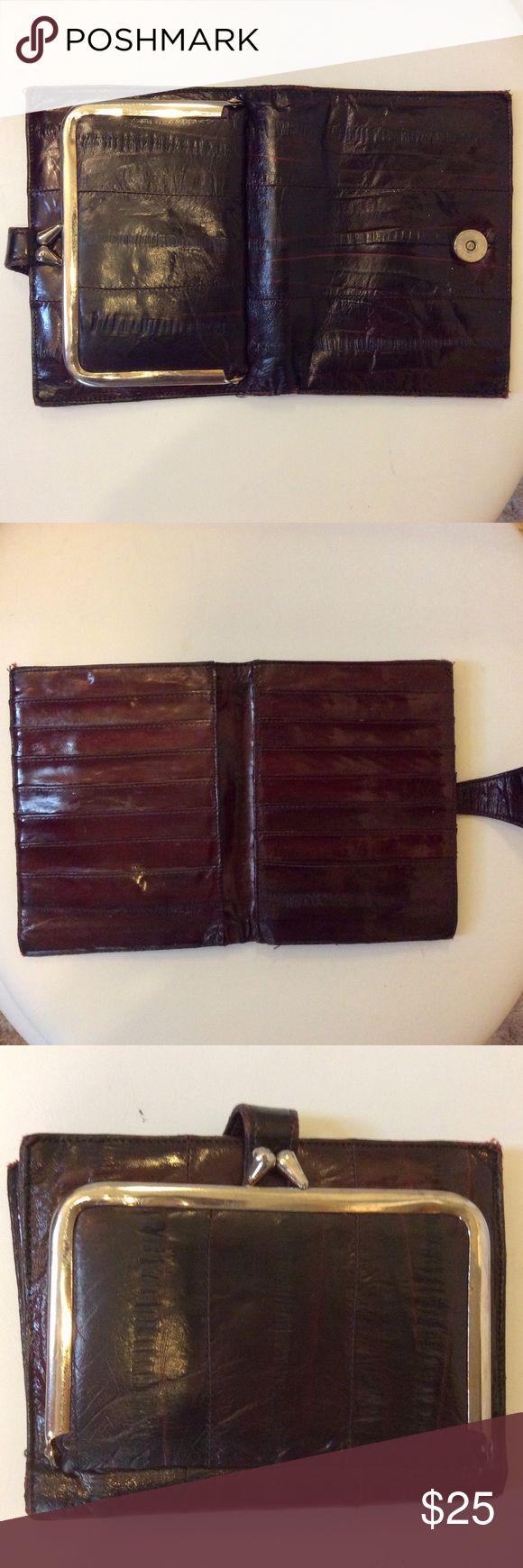 EEL SKIN WALLET Beautiful eel skin wallet holds 14 cards. Bags Wallets