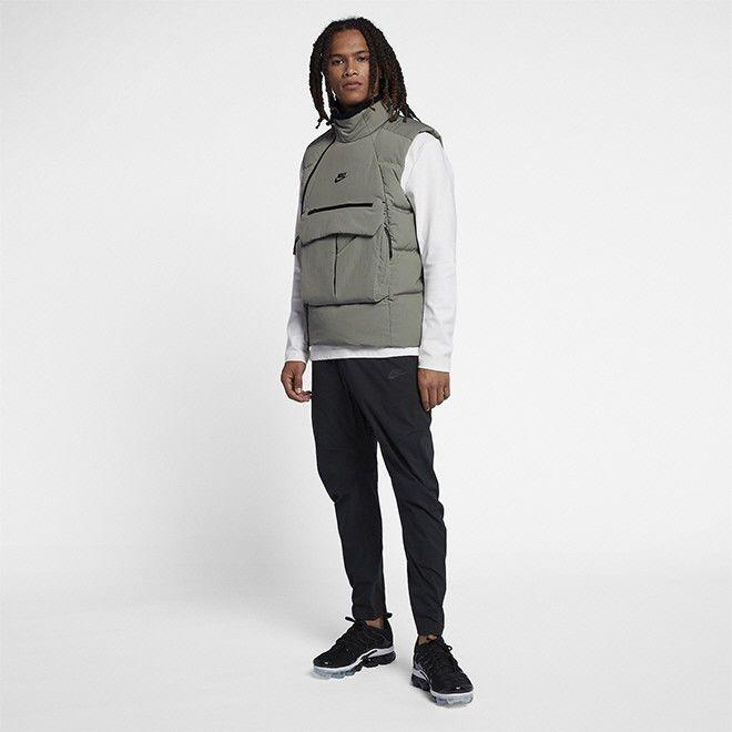 0ef580e9ec Nike Sportswear Tech Pack Down-Fill Vest Jacket Dark Stucco 928909 ...
