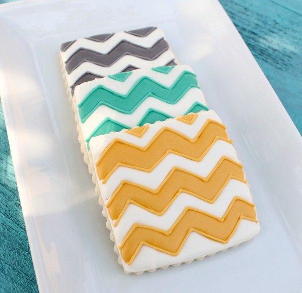 Pinterest inspired cookies ( Chevron Cookies)