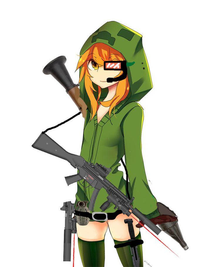 Creeper anime minecraft creeper as an anime pinterest - Creeper anime girl ...