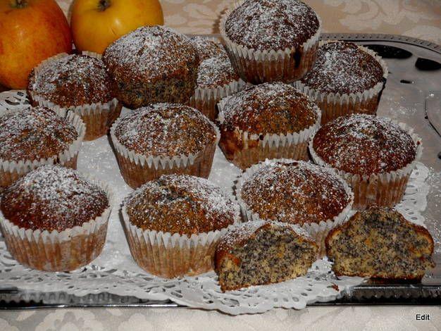 Mákos-almás muffin