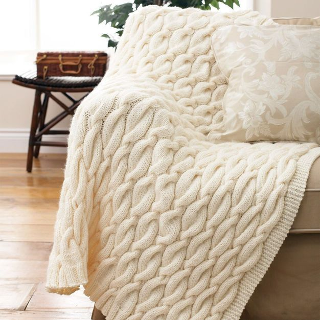 Patons Knit Cable Blanket Cables Blanket Blanket Knitting
