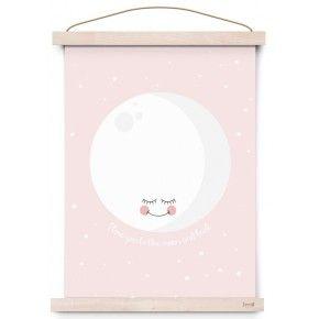 Eef Lillemor poster moon pink 29.7 x 42 cm