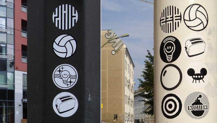 Zime football crew lempke toaster space3 erosie bomb stickers berlin