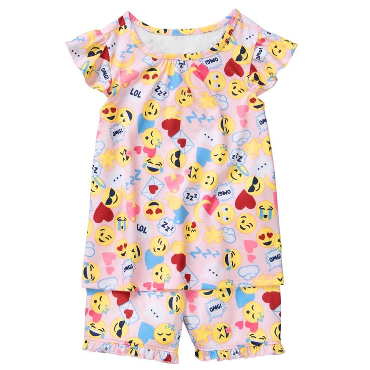 Girl Emoji Print Emoji 2-Piece Shortie Pajamas by Gymboree