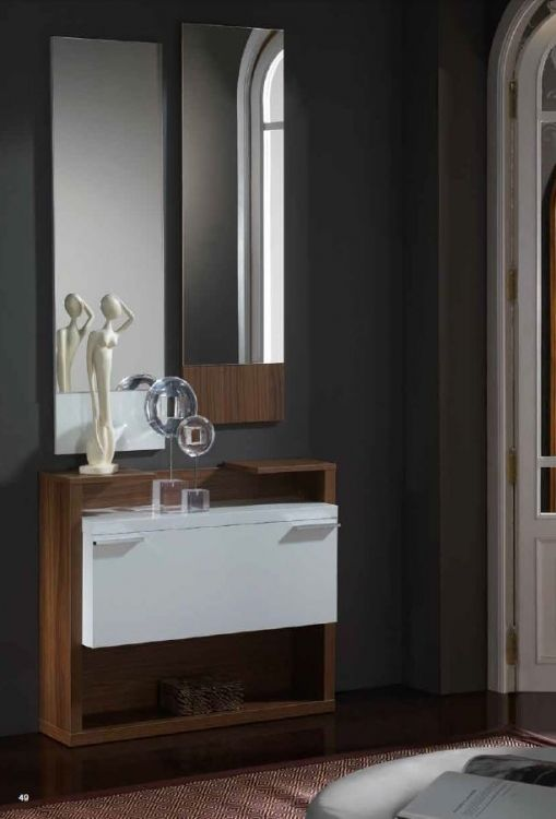 Recibidor zapatero con espejo entrada completa for Zapatero entrada casa