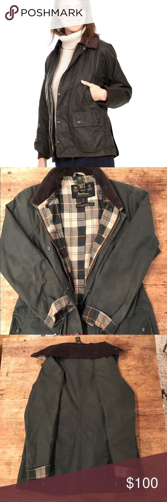 Barbour Bedale classic waxed jacket Olive waxed jacket. Corduroy collar. In good condition. Barbour Jackets & Coats