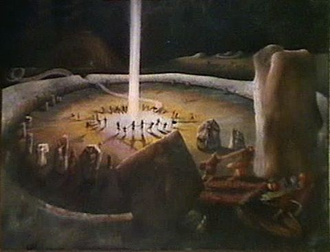 Painting based on Avebury from Children of the Stones