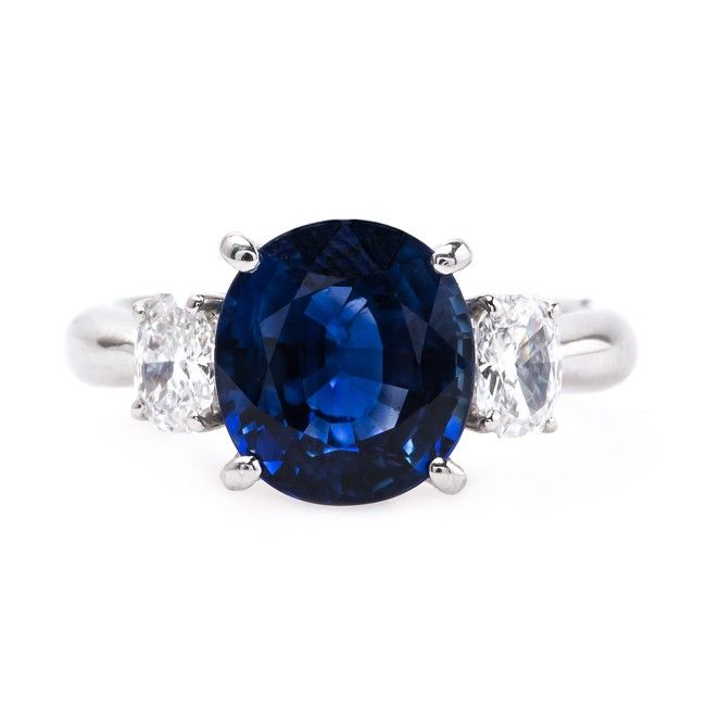 Vintage Sapphire and Diamond Ring | Wedgefield from Trumpet & Horn
