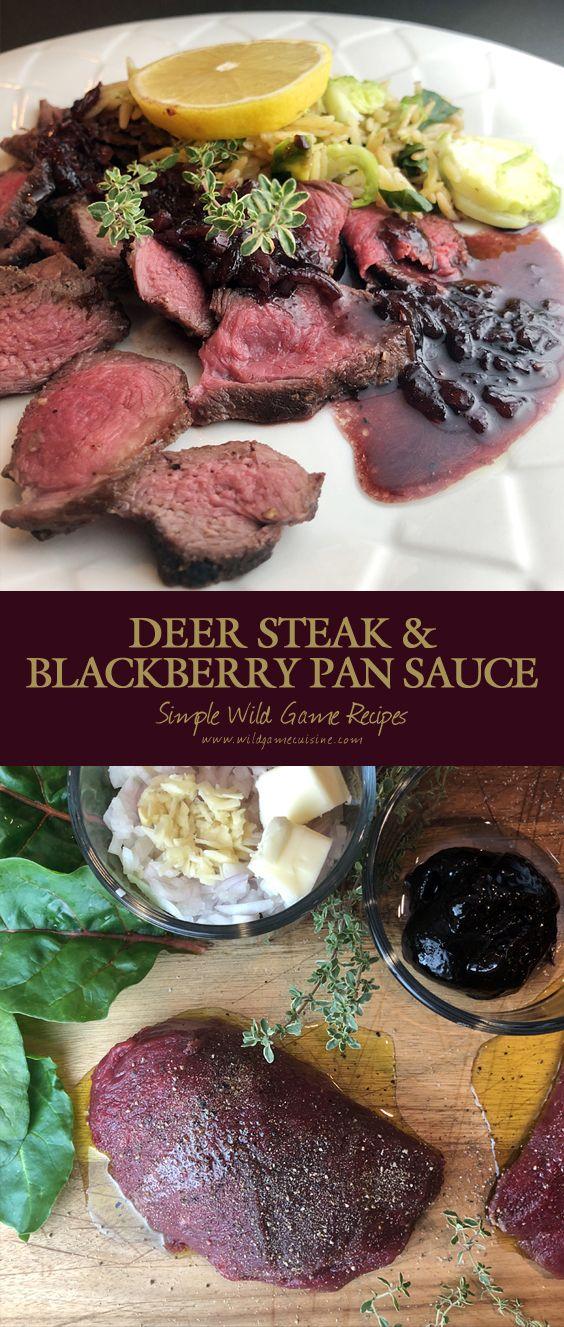 Deer Steaks with Blackberry Pan Sauce