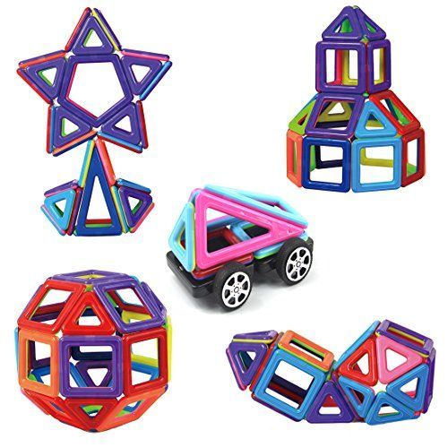 Magnetic Building Blocks Toys Set Preschool Educational Stacking Toy 76 Pieces 3D Magnet Building Construction Kit for Kids Over 3 Years Old  ABOUT Raresite MAGNETIC TOYS     It's the Best Gift Ever for Preschool and Elementary Age Kid Who is 3-5 Years Old. Raresite Magnetic Building Blocks Set is best goods for kids to engage in some creative work rather than leaving them to electronic gadgets. And with the manual which can guide the kids in creating formations.It helps with 6-12 Ye..