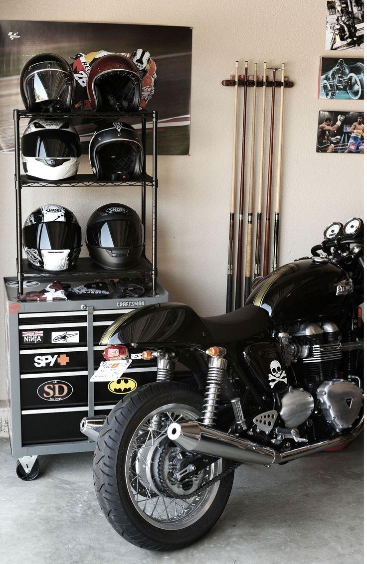 More gear storage ideas - 42 Best Motorcycle Garage Images On Pinterest