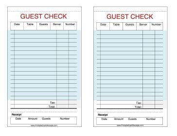 Free Restaurant Receipt Template Maggilocustdesignco - Blank restaurant receipt template