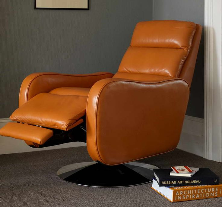Furniture:Ikea Leather Recliner With Orange Color Design Ikea Leather Recliner
