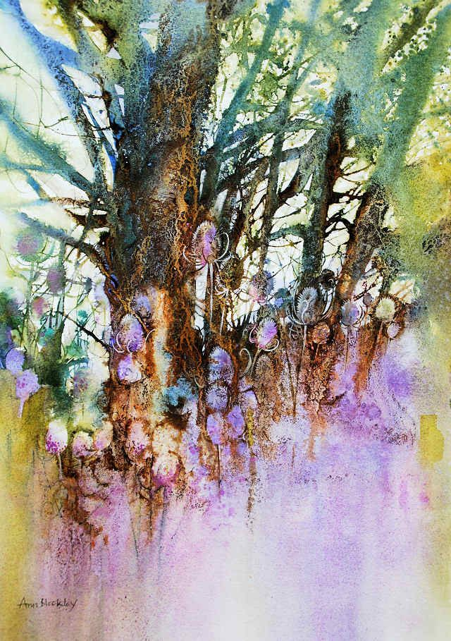 Spring Teasels in the Wood-Ann Blockley
