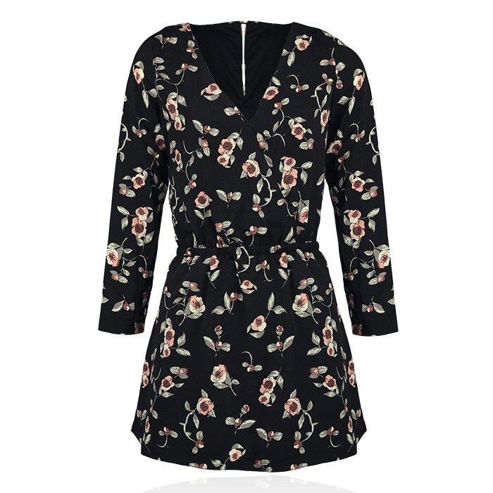 Jurkje zwart bloemen, jurken