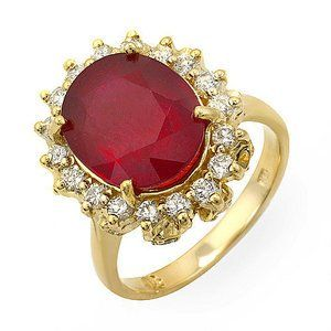 5.67 Ct Natural Ruby and Diamond Ring14k Gold Passion Gems. $1695.35. This is a Very High Quality Ruby and Diamond Ring. Thick Gold and White Diamonds. 5.67 ct natural ruby and diamond ring 14k gold