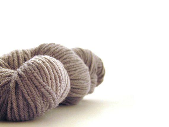 Cormo Hand Dyed Yarn 10ply aran 100g 3.5oz mid grey by msgusset, $32.00
