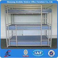 heavy duty steel cheap hotel 3 tier bed adult metal triple bunk beds for hostels