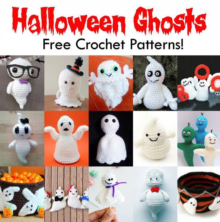 1197 best amigurumis images on pinterest crochet dolls amigurumi 25 free halloween ghost crochet patterns ccuart Gallery