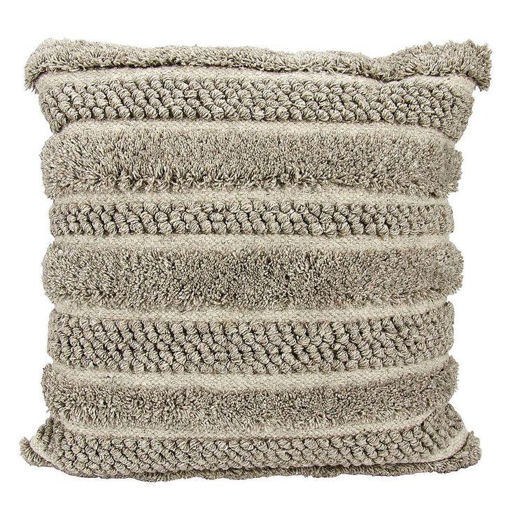 Joseph Abboud Loop Cut Throw Pillow, Grey