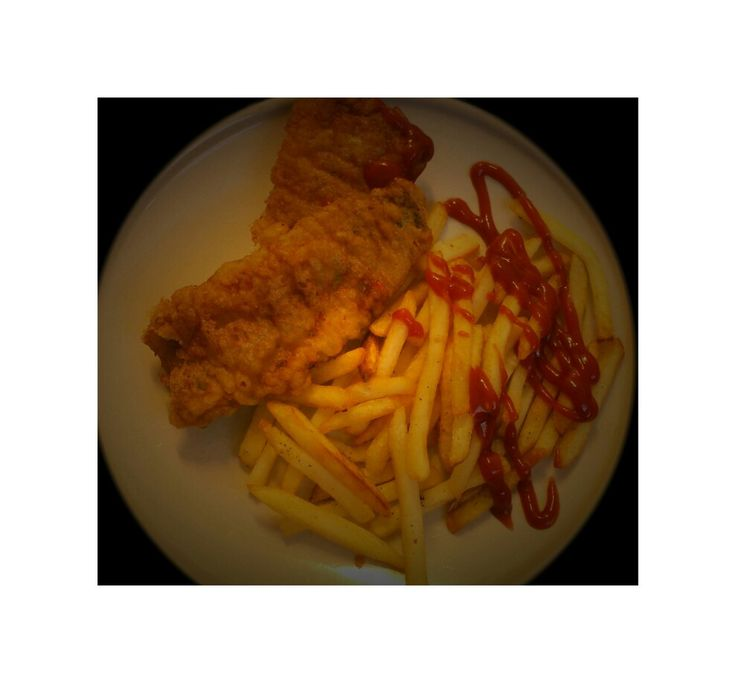 Yummy fish and chips #with ketchup