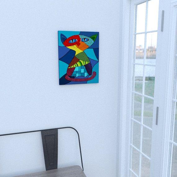 Prints on canvas cat by Decoludik on Etsy
