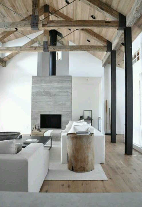 Fireplace & vaulted ceilings