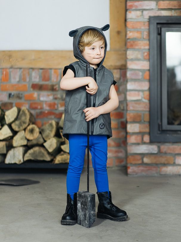 Vest GRAY - Pantaloni Summer Tribes 2015 collection. Double-sided vest with ears. #summer #fashion #kids