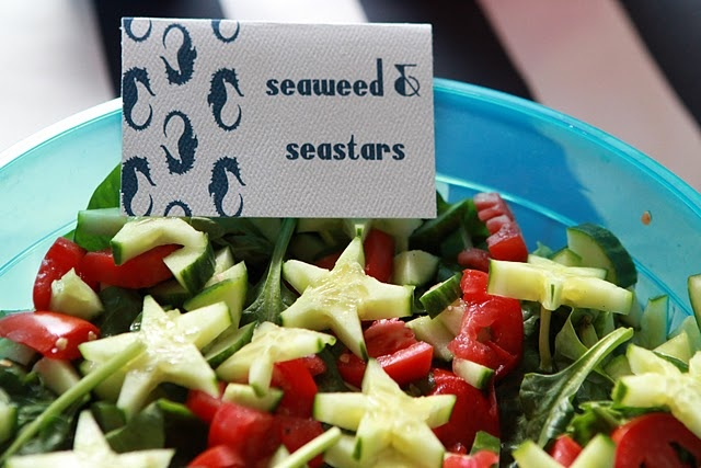 nautical party - seaweed and stars aka salad and cucumbers
