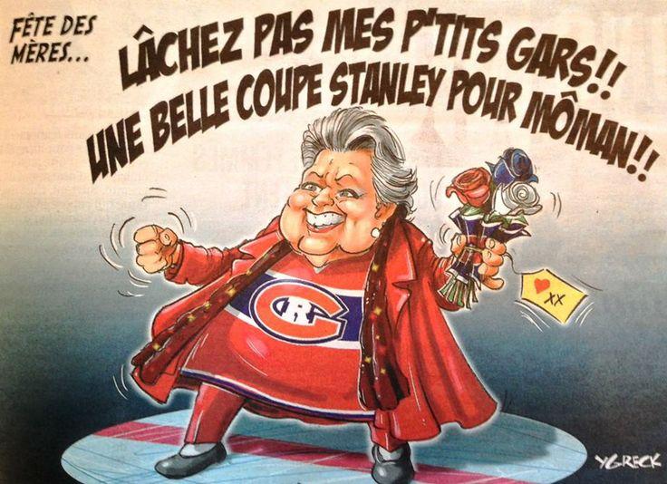 La belle voix et l'énergie de Ginette Reno inspirent les fans de hockey, tout particulièrement les partisans des Canadiens de Montréal...