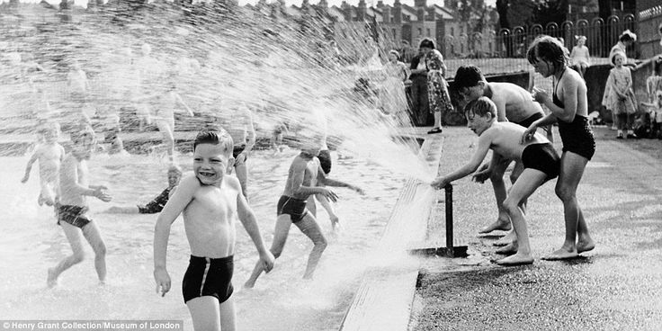 Water park: The unheated Lido in Parliament Hill Fields was popular with children and adults