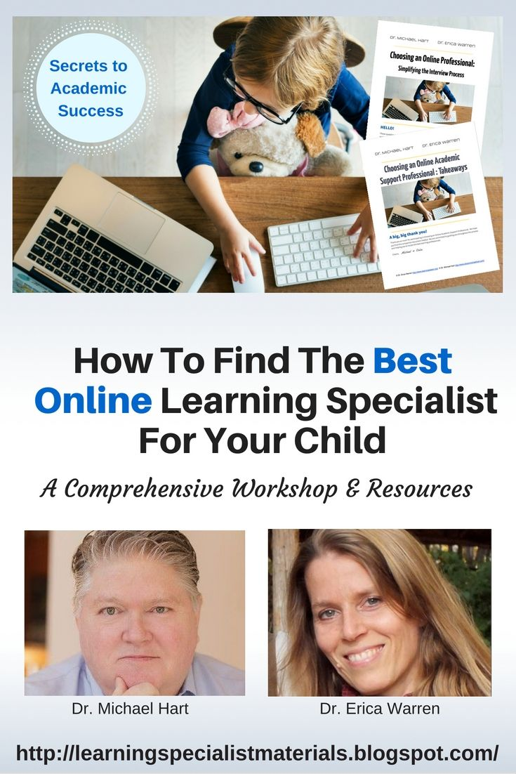 Learning Specialist and Teacher Materials - Good Sensory Learning: Finding the Best, Online Tutor or Specialist for Your Child