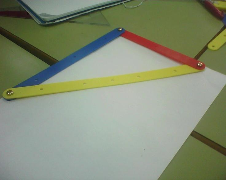 Triángulo rectángulo hecho con el mecano