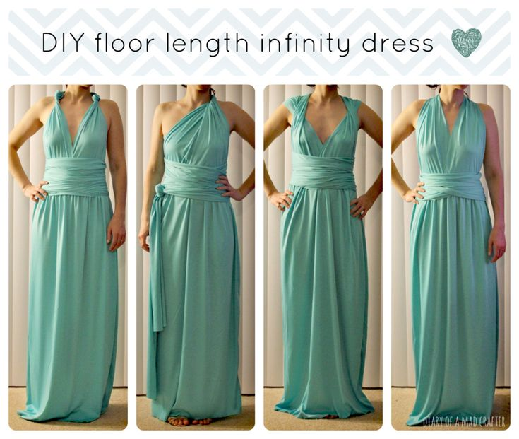 DIY Floor Length Infinity Dress