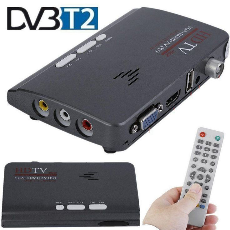 HDMI HD 1080P vga dvbt2 tv box AV cvbs tuner receiver set top box for Europe #UnbrandedGeneric