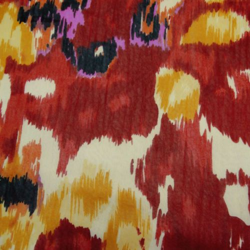 Designer-Multicolor-Printed-Chiffon-Fabric-Sheer-Dressmaking-Fabric-Sewing-Craft