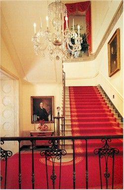 The White House Grand Staircase located in Washington DC (USA) - take tour - talk to representative way in advance