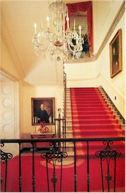 The White House Grand Staircase located in Washington DC (USA) - take tour - talk to representative way in advance